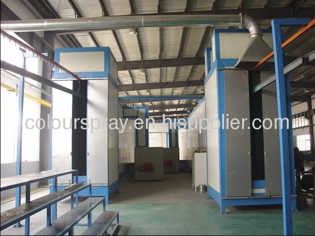 electrostatic powder coat line