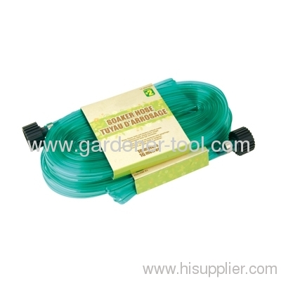 7.5M Lawn Water Soaker Hose With Plastic Coupling