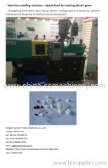 Plastic gears making injection molding machine