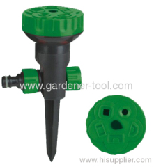 Plastic Lawn Sprinkler with 5 water pattern