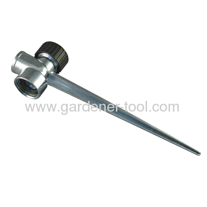 Metal 2 way sprinkler spike manufacturers and suppliers in for Garden tool with spikes