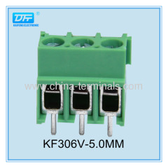 5.0mm screw 22-14AWG PCB terminal blocks save time and money