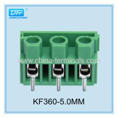 Vorgedruckte Leiterplattenklemmen 22-14AWG Teilung 7.50 grüne Farbe
