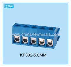 ROHS blue color 5.0mm pitch pcb screw terminal block