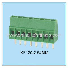 IEC Standard Profile PCB Screw Terminal Blocks, 2.54mm