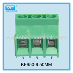 KaiFeng - Screw Terminal Block: 3-Pin,9.50mm Pitch, Top Entry (3-Pack)
