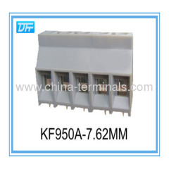 5-Position Pre-Printed PCB Board Terminals 300V 30A -40℃+105℃