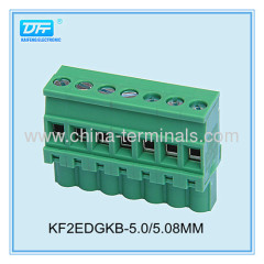 ROHS UL Plug-in Rising Clamp PCB Terminal Blocks pitch 5.08/5.0mm 15A