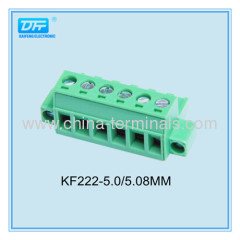 28-12AWG 5.08mm Pitch Right Angle 4pin Pcb Pluggable terminal block