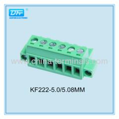 5.0/5.08mm Rasing Cage Horizontal PCB Terminal Blocks with Screw Flanges