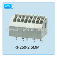 3.50mm Pitch 7 Amp Screwless Terminal Block Gray color 22-18AWG