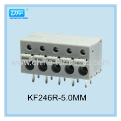 8A pitch 5.0mm 22-16AWG Spring Clamp Terminal Blocks | Spring Cage Terminal Blocks