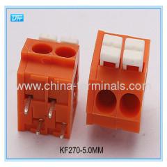Spring-Clamp Connection Terminal Blocks china terminal block pitch 5.0mm