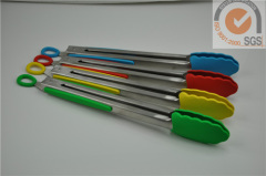 4pc 430 Food tong in food grade silicone