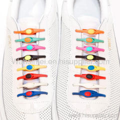 Creative design silicone shoe laces China factory wholesale