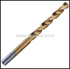 HSS Drill Bits Fully ground titanium finish DIN338