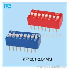 تراجع التبديل ورقة البيانات والمواصفات تراجع التبديل 4 موقف أوراق البيانات درجة النغم 2.54MM أحمر / اللون الأزرق