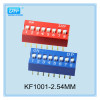 2.54mm red blue color definition of DIP switch from KaiFeng electronic Co LTD.