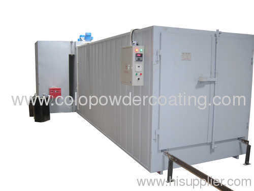 automatic powder coating curing oven