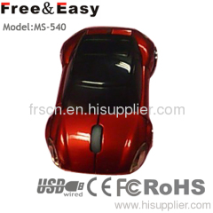 Race Car shape wired optical mouse