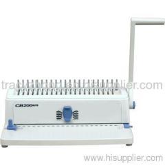 A4 paper plastic comb binding machine