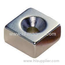 Powerful countersunk neodymium magnet