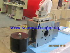 Auto belt screen changer for cast film extrusion line