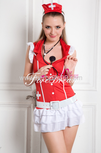 Beautiful lace nurse cosplay costume ZF-027