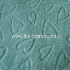 100% polyester embossed flannel for blankets