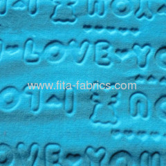 New style polyester clipped flannel fabric supplier