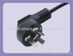 3 Pins 250V Chinese power cord plug with cable