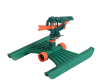 Plastic lawn impulse sprinkler With Plastic H base