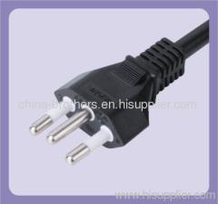 3 pin Brazil Inmetro power plug