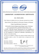 ISO 17025 Certificate of Test Laboratory