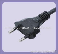 non-grounding 2 pin korea and brazil universal power plug