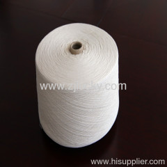 Bleached yarn for weaving
