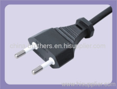 2*0.75-1.0 H05VV-F Italy powr cord with 2 pin plug