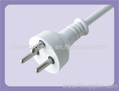 3 pin power cord Denmark power plug