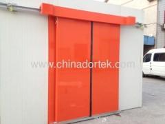 electrical bi-parting sliding freezer doors