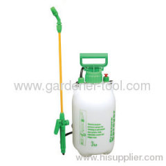 Plastic 3.0L manual knapsack handle sprayer