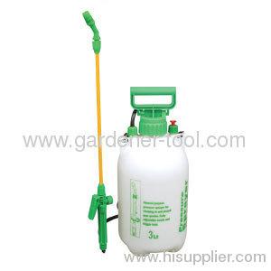 Plastic 3.0L manual knapsack handle sprayer