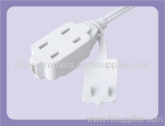 2 PIN AMERICA EXTENSION CORD PLUG AND SOCKET UL APPROVED