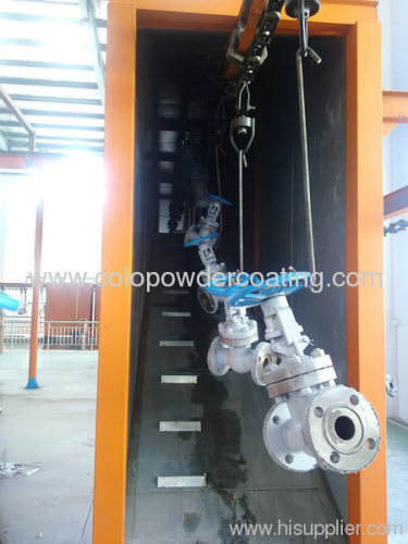 conveyor spray coating line