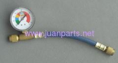 R134a refrigerant hose with guage