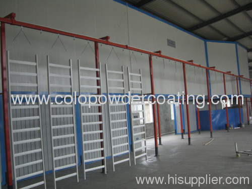 Power and free conveyor powder coating line