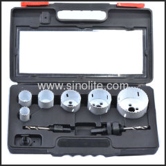 "8pcs Electrican's Kit Sizes:7/8"" 1-1/8"" 1-3/8"" 1-3/4"" 2"" 2-1/2""(22-29-35-44-51-64mm) 2 Mandrels"
