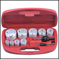 13-pieces bi-metal hole saw set for assembly mechanics