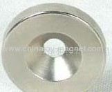 countersunk bonded NdFeB magnet