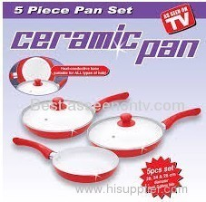 Ceramic pan non-stick caramic pan set as seen on tv