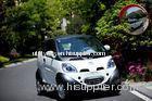 White 2 Door CVT Electric Car Aluminum Rim , 72v Ac 7.5kw